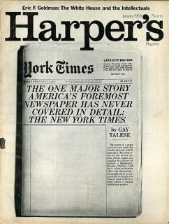 gay talese harpers NYTimes