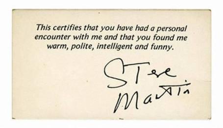 steve martin biz card