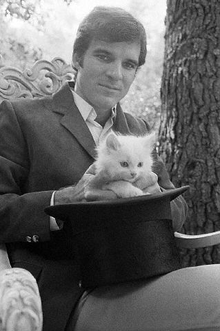 Steve Martin Pulling Kitten Out of Hat